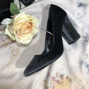 Shiny Velvet Bossy Platform Retro High Heel Shoes